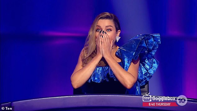 Speechless: 'I did not see anything from here,' Dannii Minogue (pictured) reacted