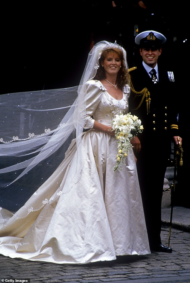 Last week Fergie declared 'divorce is one thing, but my heart is my oath' as she told the press in Poland that her wedding to Prince Andrew in 1986 was one of the best days of her life (pictured)