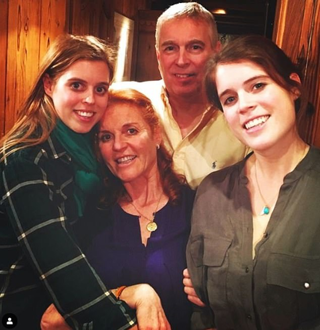 Prince Andrew is 'keen to re-marry Sarah Ferguson' if he is able to move on from allegations of sexual abuse, sources have claimed (pictured with their daughters Princess Beatrice and Eugenie)