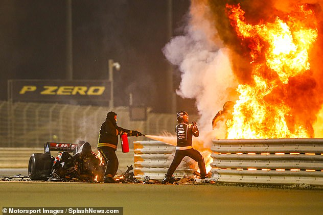 Grosjean was lucky to escape after a 140mph crash saw his car explode into a fireball