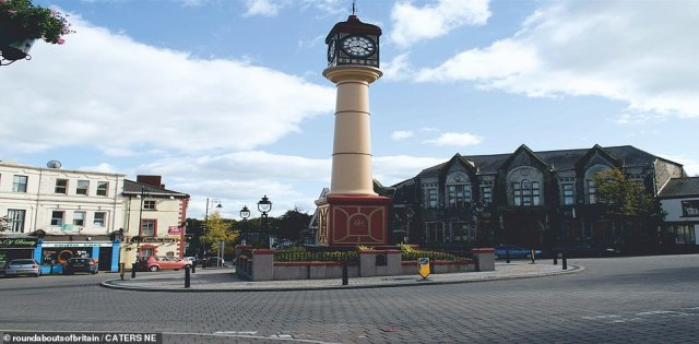 JUNE: For 161 years Tredegar's iconic roundabout clock tower has chimed in the Welsh Valleys. It is made of cast iron and measures 72ft. It was built to ensure locals in the area got to work on time.