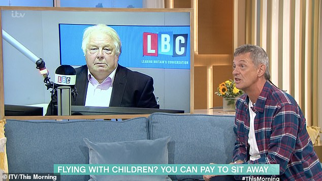 Nick Ferrari said he would rather be able to book seats away from loud businessmen and woman on flights