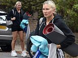 Caprice Bourret, 49, shows off her toned pins in tiny shorts as she leaves pilates class in London