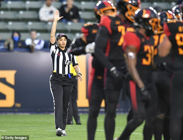 Chaka enters the NFL after working in the Pac-12 and Conference USA. She also had some experience in the XFL (pictured)