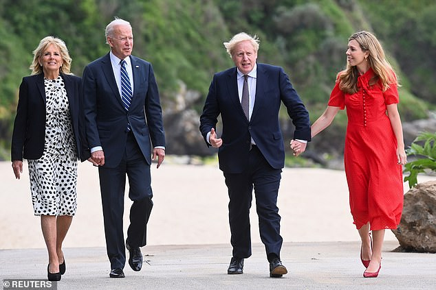 Boris Johnson could meet Joe Biden at the White House when he goes to America for the UN general assembly (pictured together at the G7 in Cornwall this summer)