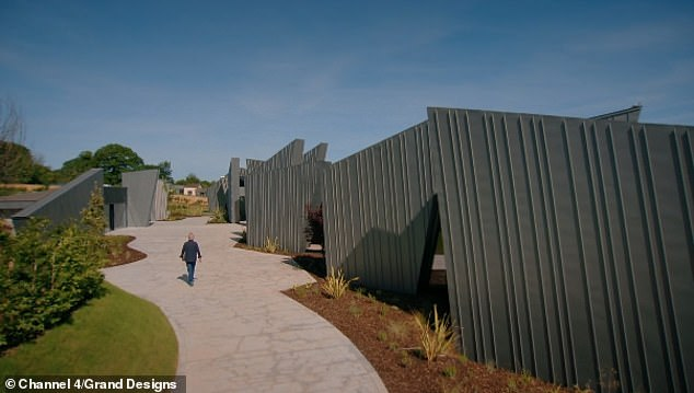 Property developer Joe O'Connor, 35, was branded an 'arrogant t******' by Grand Designs' audience when he spent four years and £2.5 million building a sprawling 6,000-square-foot building based on rugged Devon terrain. built a house of - which many said looked like 'a sh** stone henge'