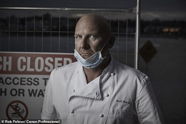 Celebrity chef Matt Moran (pictured) was targeted by anti-vaxxers after saying his restaurant would only serve double-dossed customers in line with the next month's reopening laws