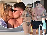 PICTURE EXCLUSIVE: Bikini-clad Emily Atack shares steamy kiss with tattooed hunk