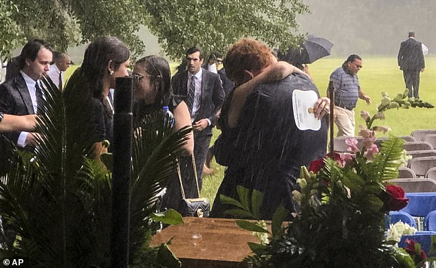 The last time Buster was seen was during the rainy funeral service for his brother Paul and mother Maggie on June 11. He's seen receiving a hug