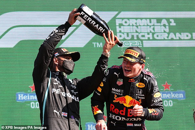 Hamilton congratulated Verstappen after the Dutch Grand Prix but the pair are hardly buddies