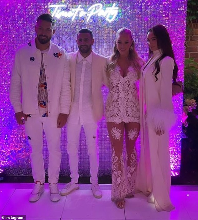 Yay:Taylor was dressed in bridal white for the occasion as she glammed up in a sizzling sheer jumpsuit with lace appliqués covering her modesty