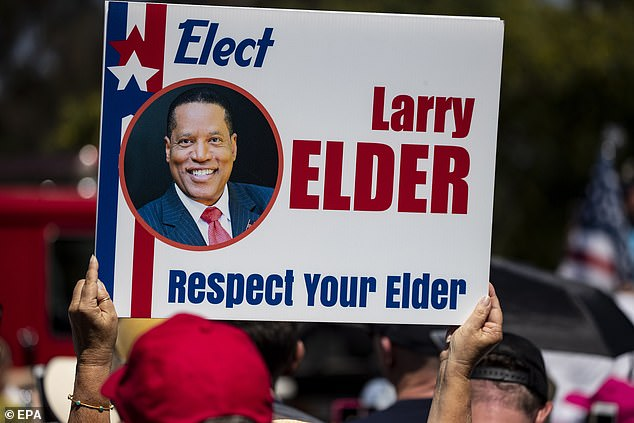In July, a UC Berkeley Institute of Governmental Studies poll co-sponsored by the LA Times found that 18 percent of likely voters preferred to vote for Larry Elder when asked to pick their first choice among the candidates hoping to take the helm as California¿s next governor