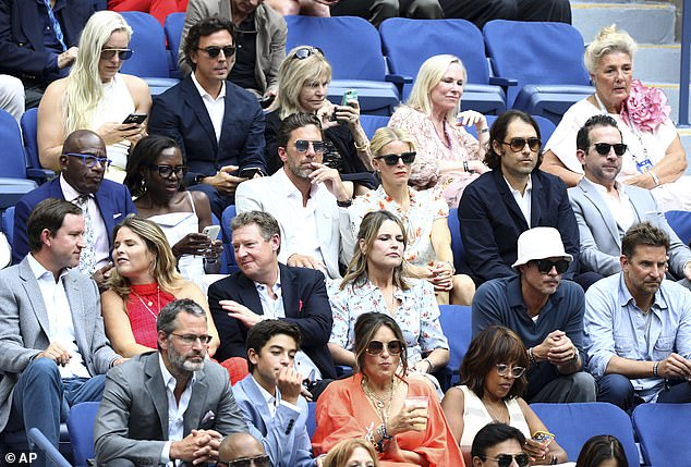 Star-studded: The Today hosts also sat near Mariska Hargitay and her husband Peter Hermann (front row, left), Gayle King (front row, right), and Olympian Lindsey Vonn (back row,left)