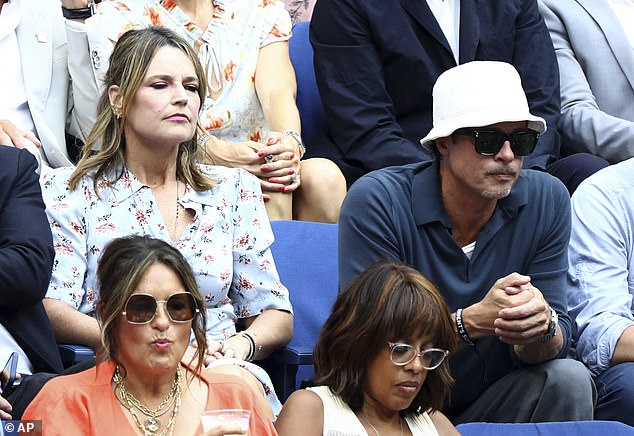 What a day! Savannah Guthrie, 49, sat next to Brad Pitt, 57, at the US Open on Sunday and opened up about the experience on the Today show the next day