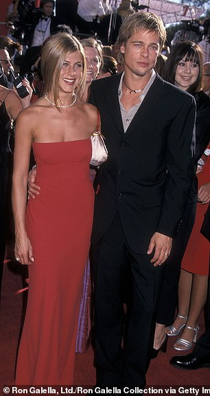 She ended her four-year marriage to two-time Oscar winner Brad Pitt (R, pictured in 2000) in 2005