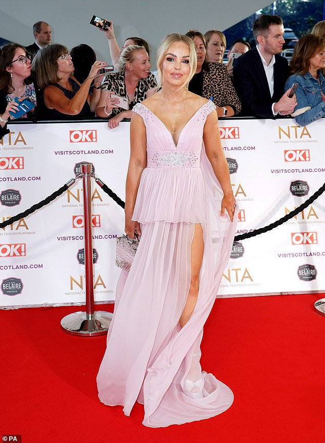 Looking good:Katie posed up a storm on the red carpet of the National Television Awards at London's O2 Arena last week