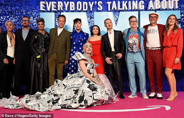 Group snap: The cast stopped to take a dazzling picture