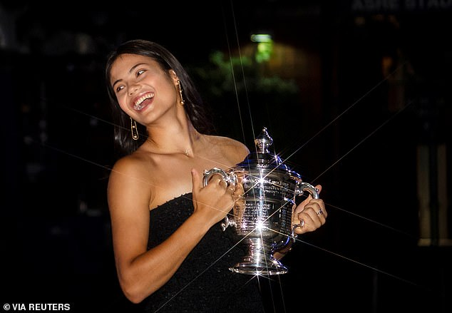 The 18 year-old became Britain's first female singles Grand Slam champion for 44 years
