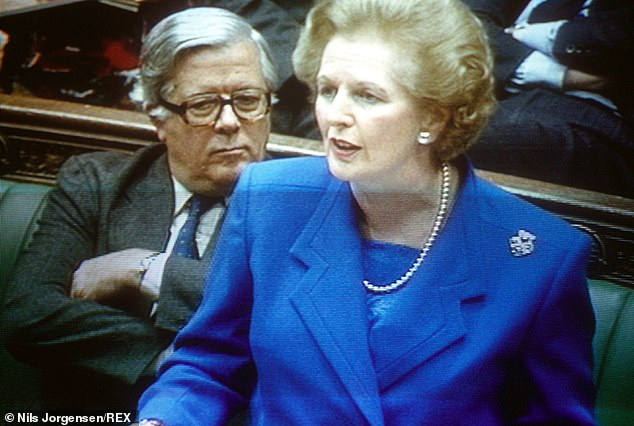 Elsewhere, the Cabinet Office minister described Margaret Thatcher's policies as a 'new empire' where 'the happy South stamps over the cruel, dirty, toothless face of the Northerner'
