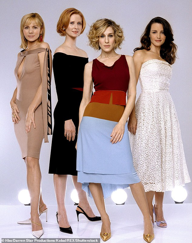 Back in action: The new HBO Max series brings back Sarah Jessica Parker in her role as Carrie Bradshaw, with Cynthia Nixon playing Miranda Hobbs and Kristin Davis as Charlotte York Goldenblatt, while Kim Cattrall declined to return; seen in 2004