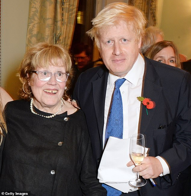 Charlotte Johnson-Wahl is said to have died 'suddenly and peacefully', the Telegraph reports. Mrs Johnson-Wahl, a professional painter, died in a London hospital on Monday, the Johnson family said. Here she is pictured with Boris Johnson at the launch of his book 'The Churchill Factor' in 2014