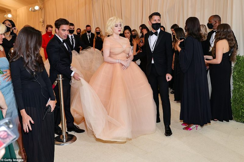Killing it:Eilish is serving as the youngest ever co-chair of the annual event, themed America: A Lexicon of Fashion, alongside the likes of actor Timothée Chalamet and poet Amanda Gorman