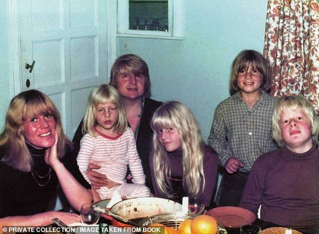 Pictured: Stanley Johnson and Charlotte Johnson Wahl with their four children. The couple were married for 16 years before their divorce in 1979