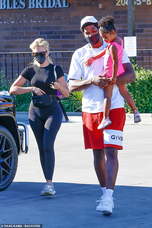 Khloe steps out:While the rest of her family is attending either the Met Gala or New York Fashion Week events, Khloe Kardashian is spending some time with daughter True and True's father, Tristan Thompson