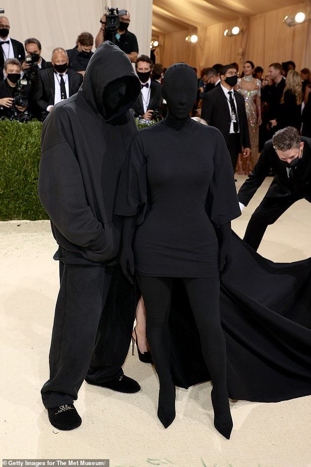 Dynamic duo: Kim Kardashian was joined by Balenciaga creative director Demna Gvasalia as she arrived at The Metropolitan Museum of Art in New York City for the Met Gala on Monday