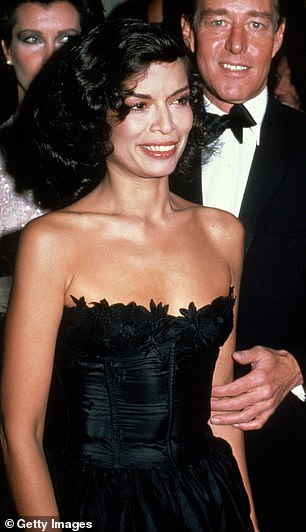 Legend: Kaia took inspiration from Bianca Jagger's iconic look at the same event in 1981 (pictured)