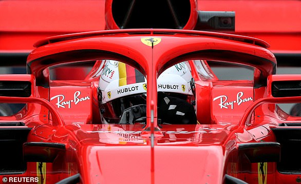 A Halo device fitted to a Ferrari F1 car