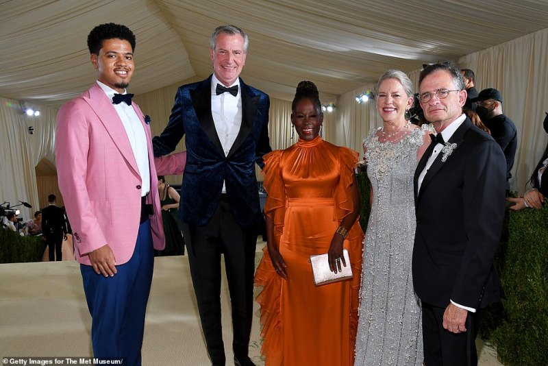 'It's really about our recovery,' he told Politico. 'The message, the goals of this gala really celebrate diversity and inclusion, the things we need to focus on, the things that make this city great,' de Blasio told Politico