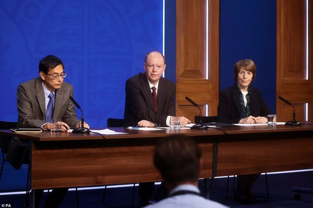 Around 3million under-16s are due to start getting their jabs from next week after Chris Whitty endorsed the move last night claiming it would help prevent outbreaks in classrooms and further disruptions to education this winter. Professor Whitty held a press conference with JCVI chiefProfessor Wei Shen Lim (left) and MHRA bossDr June Raine