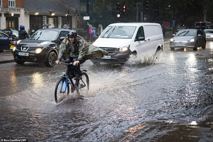 The Met Office has issued a yellow weather warning for heavy rain which is expected to affect most parts of England today
