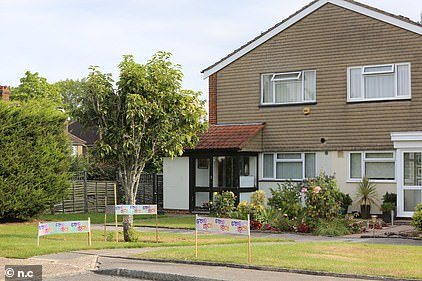Raducanu's home in a cul-de-sac in Bromley, south-east London when she was competing at Wimbledon this summer