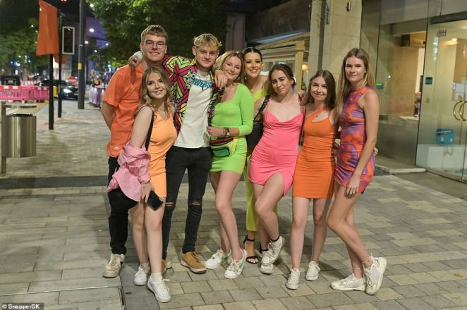 Students were back without restrictions after last year's Freshers' Week was cancelled due to the Covid pandemic, with groups limited to six and curfews imposed