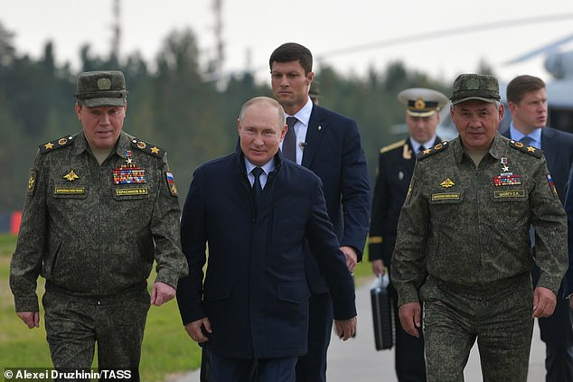 The Russian president also attended military exercises conducted in coordination with Belarus on Monday