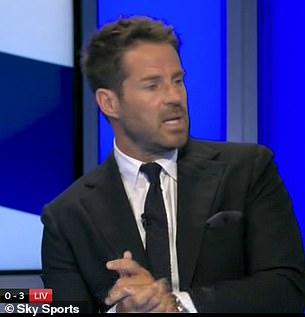 Jamie Redknapp felt Struijk's sending-off was unfair as his challenge on Elliott was 'innocuous'