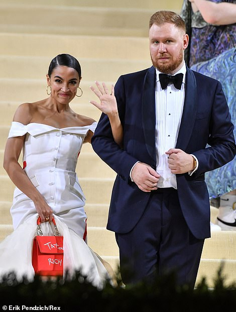 It's unclear whether AOC's date, her boyfriend Riley Roberts, paid for his ticket, or if he was given it for free too
