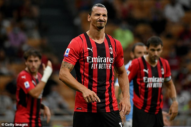 Zlatan Ibrahimovic will miss AC Milan's return to the Champions League against Liverpool