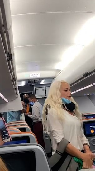 The unidentified woman, who was traveling with her five-year-old son, called the situation bulls***