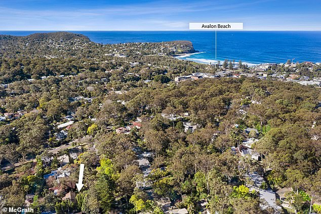 Desic had been living and working as a 'Dougie the labourer' in the posh beachside suburb (pictured), staying out of trouble and avoiding any police confrontation