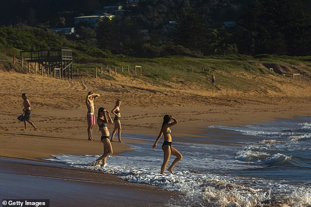 He worked cash in hand as an odd job man for local wealthy families dried up when the current Covid outbreak left him penniless and living on Avalon Beach (pictured)