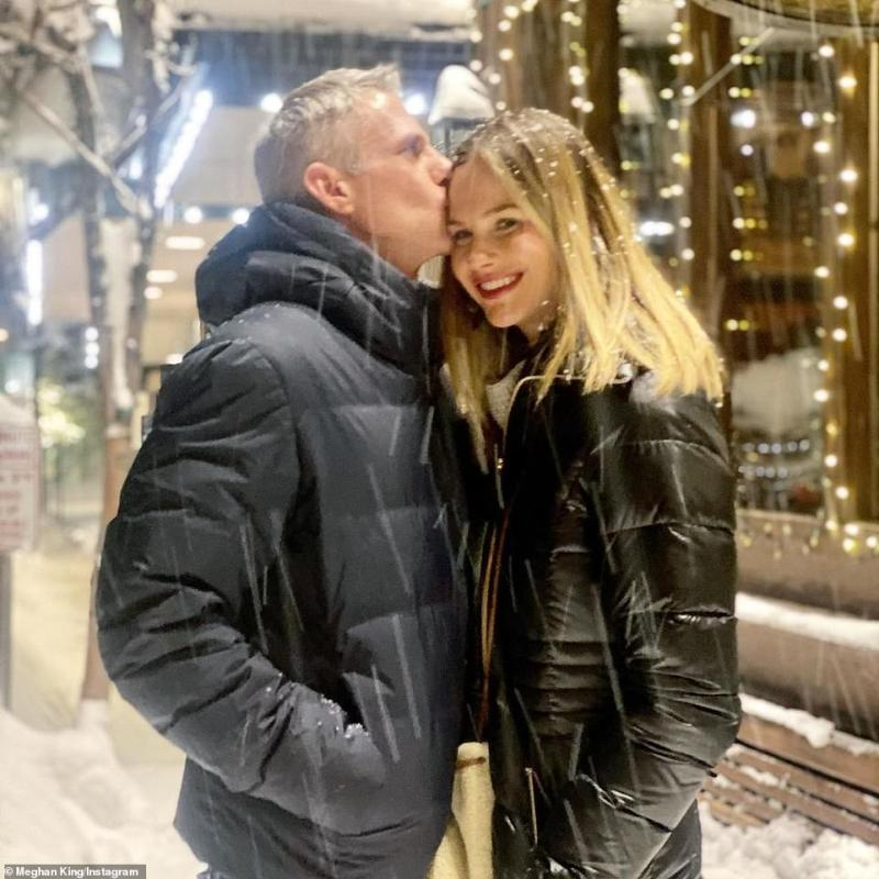 Moving on: The University of Mississippi grad and Jim finalized their divorce in May after five years of marriage, and she's dated men like Christian Schauf and William G. Roos II (L, pictured on February 14)