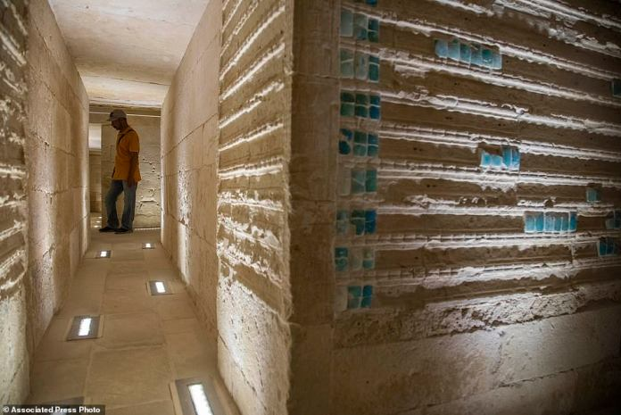 The interior of the tomb is designed like a maze with corridors and hallways throughout