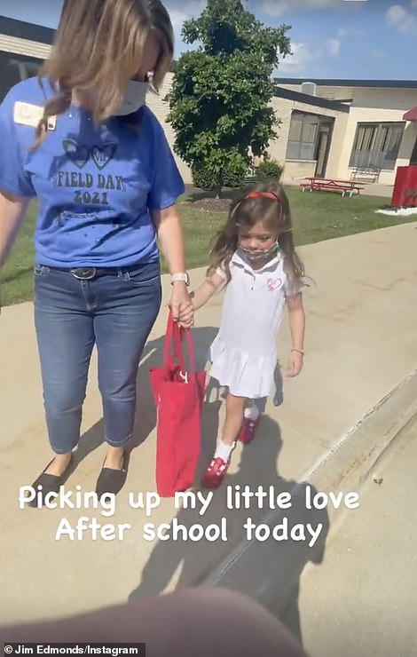 Doting dad: Speaking of which, the 51-year-old retired MLB center fielder Instastoried a cute clip of himself picking up their four-year-old daughter Aspen from school