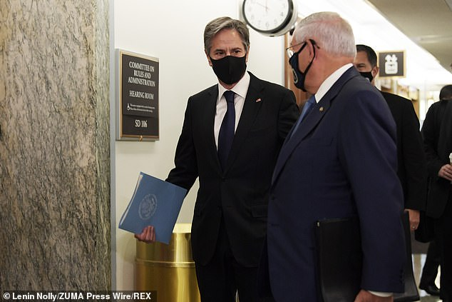At the hearing Blinken was hammered over the chaotic withdrawal and $80 billion in military equipment Republican senators now say is in the hands of the Taliban