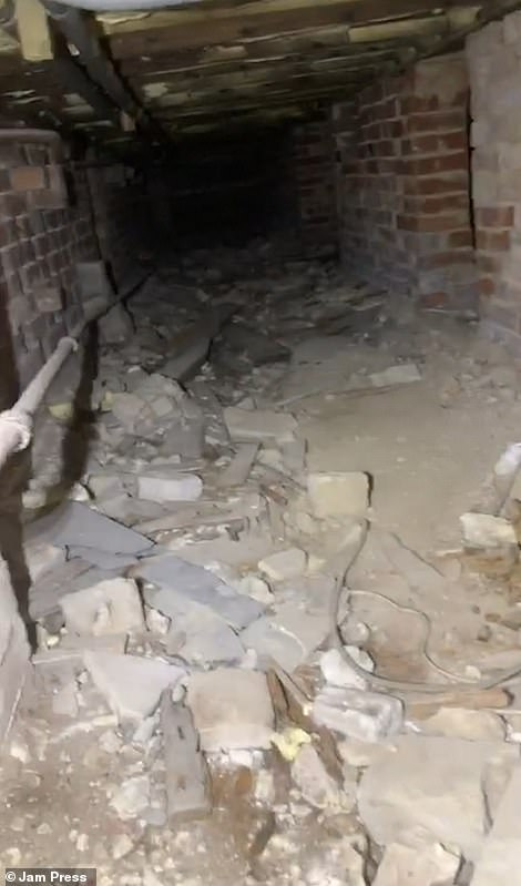 After climbing down the passageway to the basement, Freddy found two secret rooms with doors leading to other passages