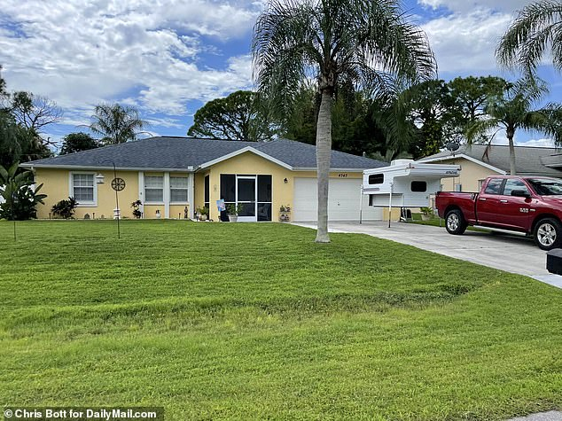 Above is the Laundrie family home in North Port, Florida, where Brian Laundrie returned in the couple's van without Gabby after their trip