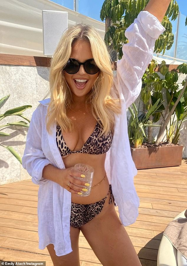 Single and ready to mingle: Emily Atack enjoyed a holiday romance with an accountancy graduate nine years her junior, MailOnline can reveal